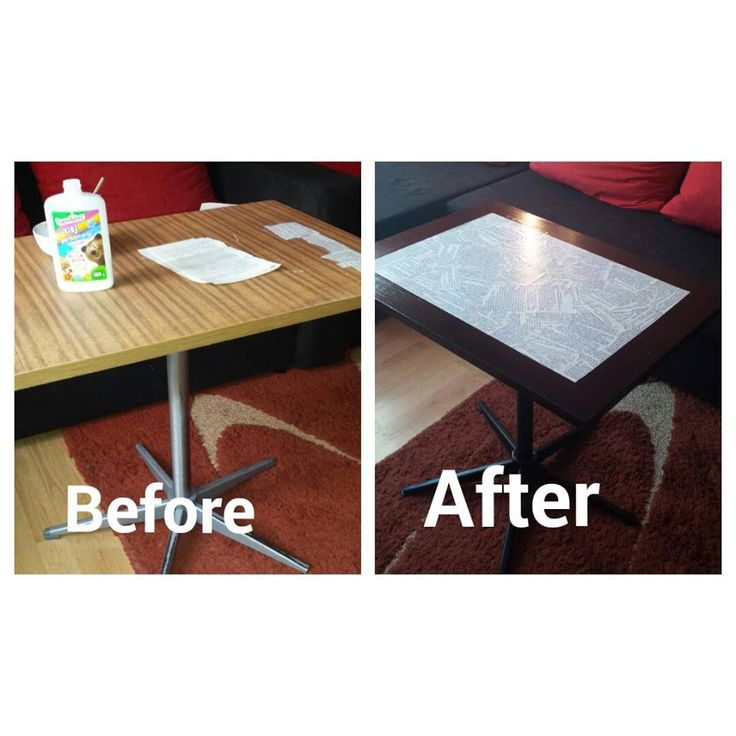 stolik przed i po mojej pracy :) table decoupage before and after