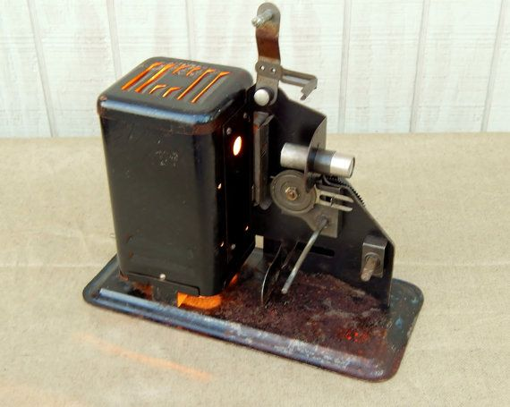 Unique Lamp from 1950 Hand Crank Movie Projector by TinkerLighting