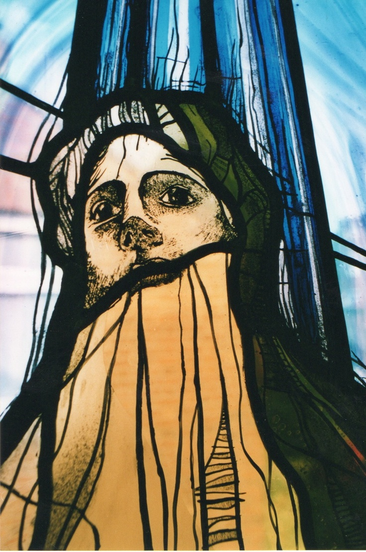 """""""Godhead"""" stained glass panel by James Cockerill of Halt Glass, Old Woking, England"""