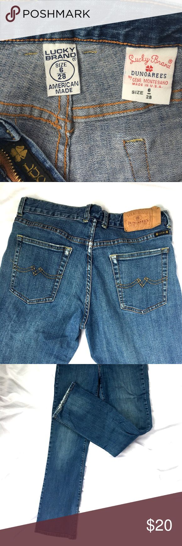 Lucky brand dungarees jeans size 6 women's Lucky brand dungarees size 6 Lucky Brand Jeans Flare & Wide Leg