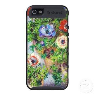 Anemones in Pot Claude Monet flower paint iPhone 5 Cases    ...BTW,Please Check this out:  http://artcaffeine.imobileappsys.com