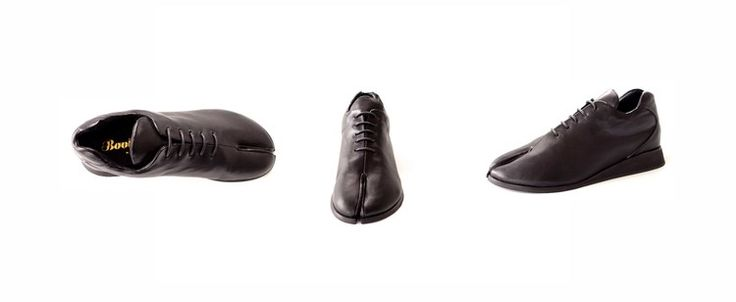 Black Tabi Sneaker  3 way view  Booker&co