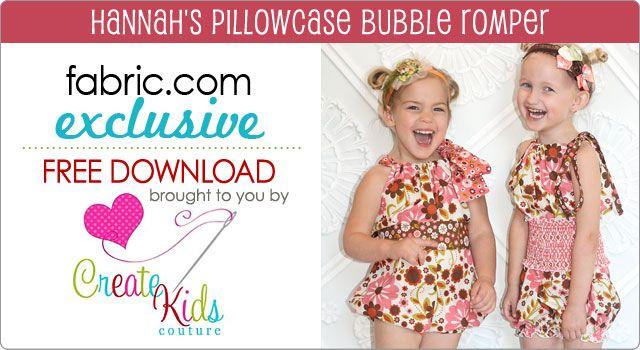 cute pillowcase bubble romper for kids- free pattern