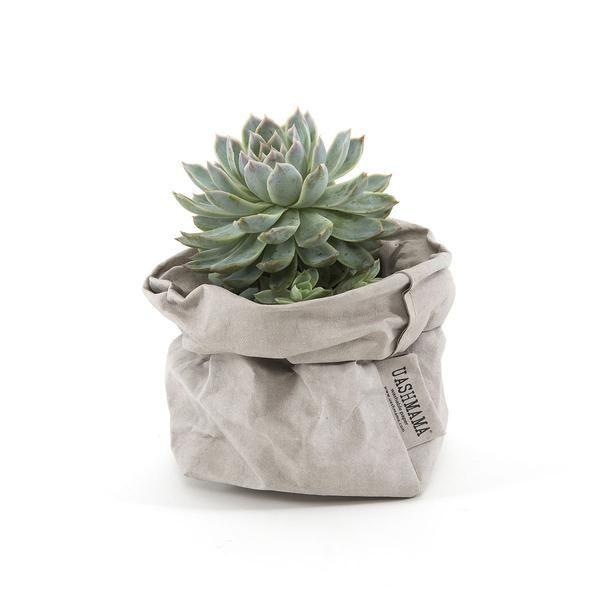 Uashmama Washable Paper Bag Grey - The Future Kept - 1