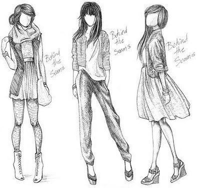 fashion sketches - Oh how I wish I could draw like this