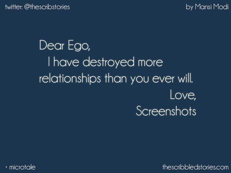 Just a 3 LETTER WORD BUT CAN DESTROY ANY RELATIONSHIP... NO MATTER HOW EVER SPECIAL IT CAN BE....