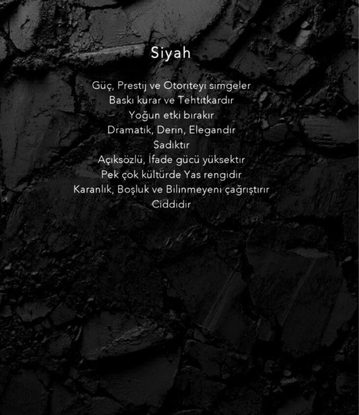 Renklerin psikolojisi: siyah