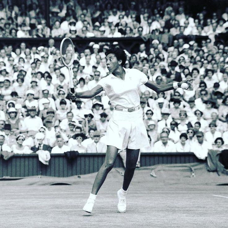 Black American tennis legend of world stature Althea Gibson