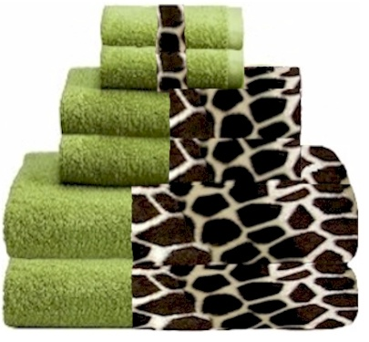Giraffee U0026 Lime Animals Bordering Africa Bath Towels. $11.00   $27.00 SALE  $10.00   $24.00
