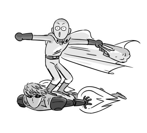 Saitama and Genos ||| One Punch Man Fan Art by jennerallydrawing on Tumblr