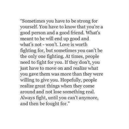 And then be fought for