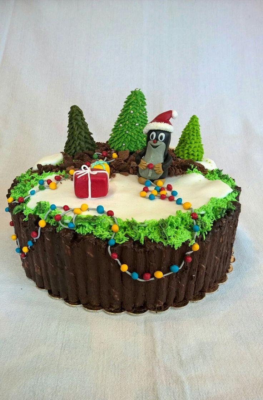 Little Mole Cake#Christmas Edition# Fondant#