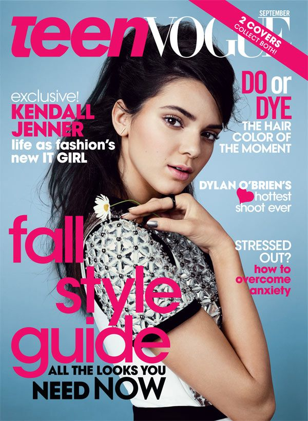 Kendall Jenner -- So Sweet On 'Teen Vogue' Magazine