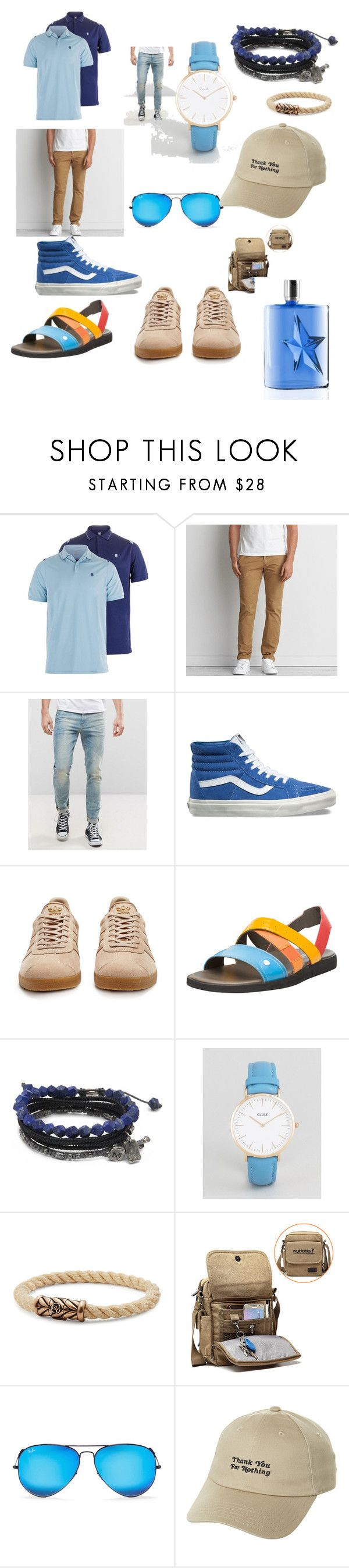"""#be #cool#fun#fashone#trend#moda#"" by hannazakaria ❤ liked on Polyvore featuring American Eagle Outfitters, ASOS, Vans, adidas Originals, Camper, M. Cohen, CLUSE, David Yurman, Ray-Ban and Thierry Mugler"