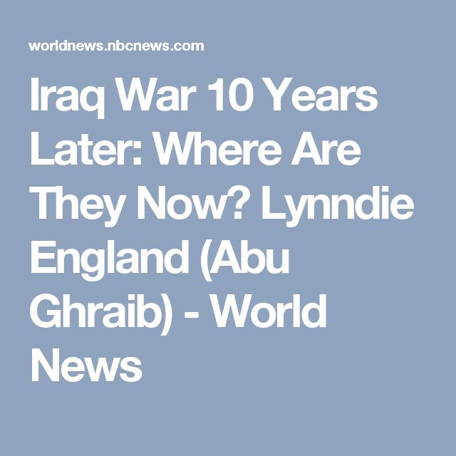 "In her interview, Lynndie expressed no remorse for her actions. ""Their (Iraqis') lives are better. They got the better end of the deal,"" she said. ""They weren't innocent. They're trying to kill us, and you want me to apologize to them? It's like saying sorry to the enemy."""