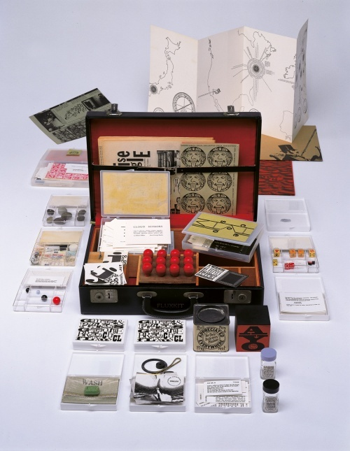 Fluxkit, 1964/65. Fluxus edition, assembled by George Maciunas