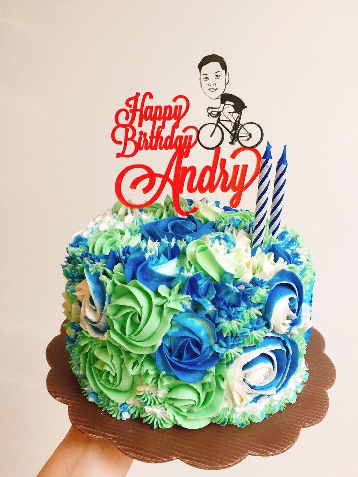 Bikers cake Ombre cake Cake topper