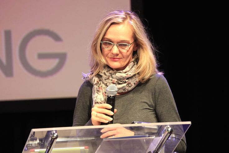 The director of Culture Department (City Council of Lodz) Joanna Ossowska-Struszczyk opening Filmteractive Festival 2014