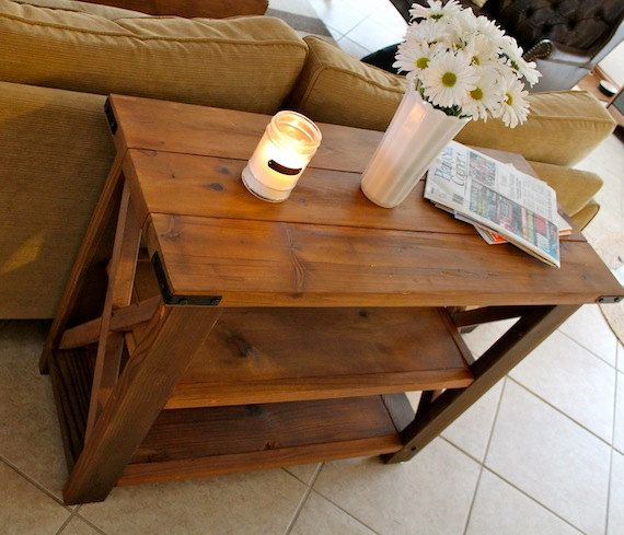 medium rustic FARMHOUSE TABLE 38x15x29 - Rustic country home decor
