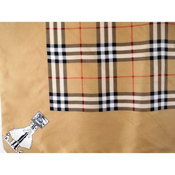 seta, scarf, sciarpa, seidentuch, Burberry's, Foulard Carré, en Soie