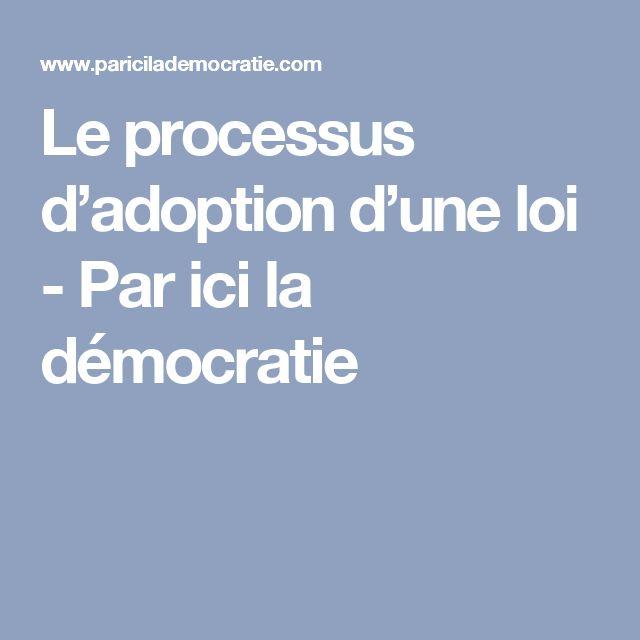 Le processus d'adoption d'une loi - Par ici la démocratie