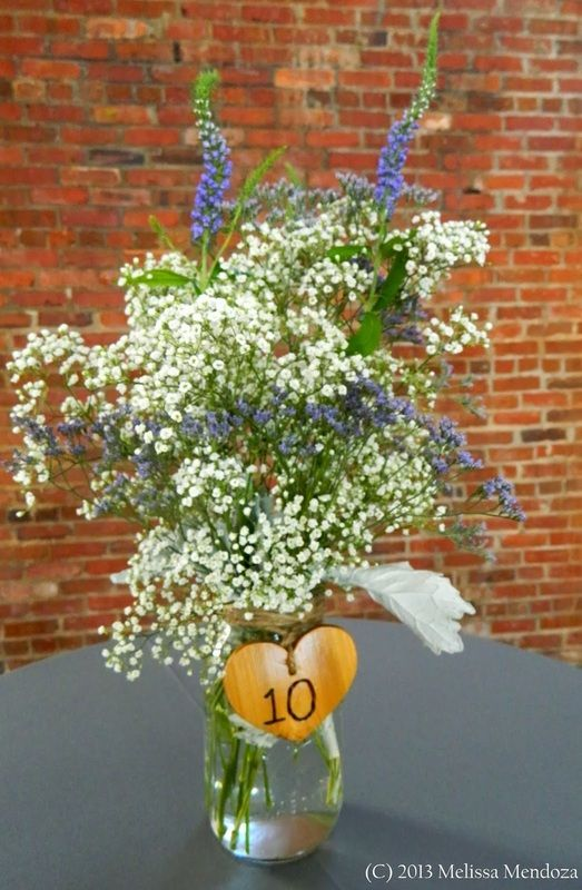 Simple Chic Flower Arrangement Knot Too Shabby Events Wilmington, NC Wedding & Event Coordination - Knot Too Shabby Events Wilmington, NC Event Planning & Wedding Coordination