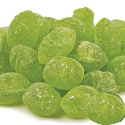 Claeys Green Apple Sanded Candy Drops ~ 2 Lbs ~ Old Fashioned Flavor