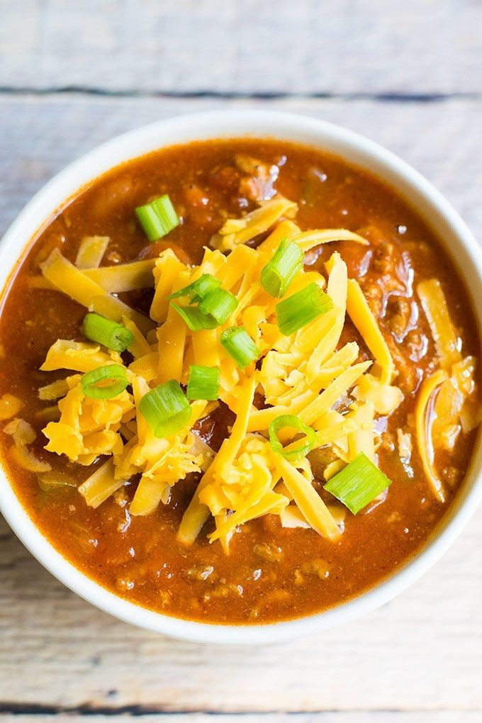 This delicious chili is perfect for the chilly Fall and Winter weather! #chili #fallrecipes