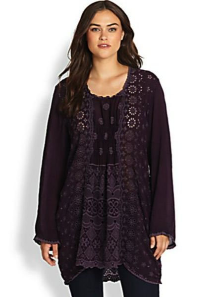 Johnny Was Plus Size Tunic - Cannot Get Enough of Johnny Was! Especially  their Eggplant