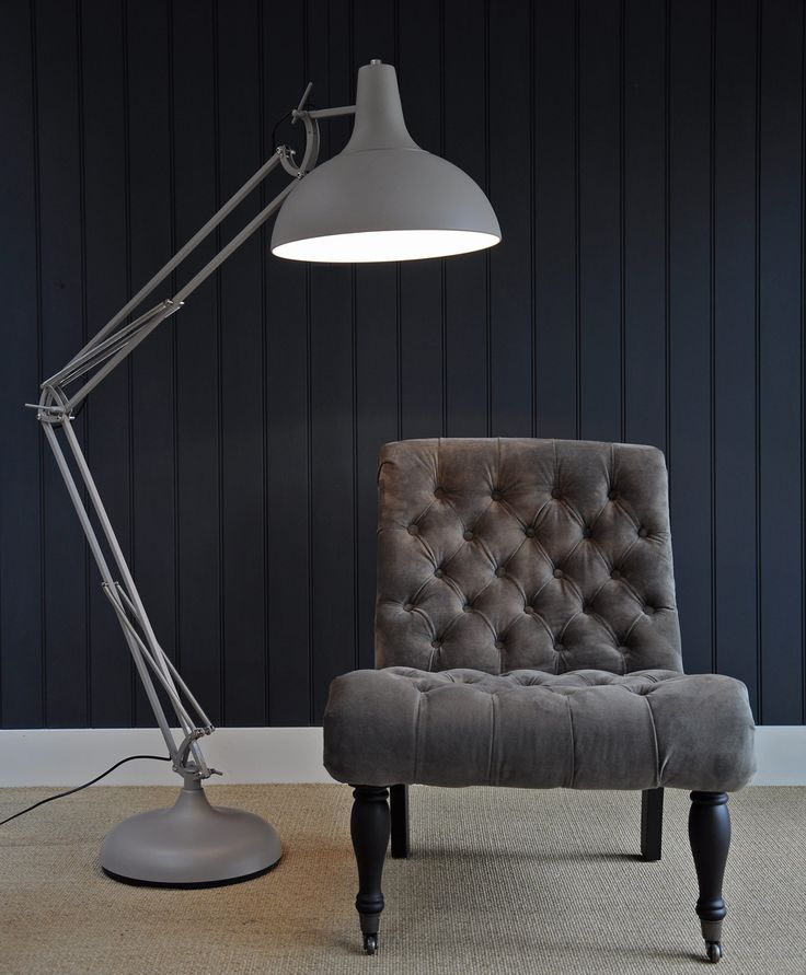 I like this over sized anglepoise floor lamp light pinterest grey floor lamps and lighting - Large anglepoise lamp ...