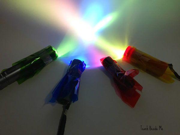 Experimentos caseros, los colores y la luz Experimentos caseros con la luz. Sencillo experimento para niños para aprender sobre los colores luz. Experimentos caseros divertidos y educativos.