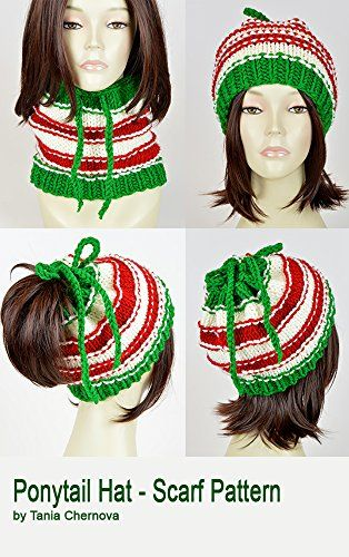 bd238788dfd  Christmas  Hat  Pattern  Ponytail  Hat With  Hole  Santa  Claus  Knit  Hat   Christmas  Scarf  Pattern  Knit  Beanie  Pattern  Hole  Hat  Ponytail   Beanie ...