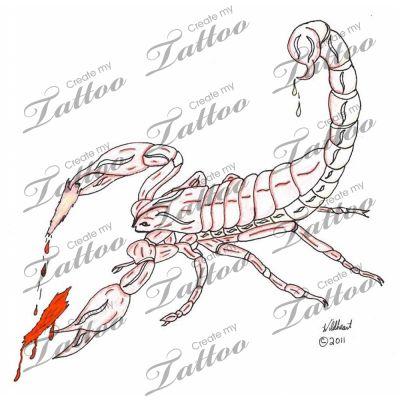 Marketplace Tattoo Scorpion Torn Flesh Tattoo #3118 | CreateMyTattoo.com