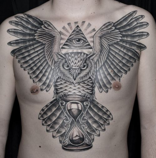 Owls | Chest piece tattoos, Tattoos for guys, Cool chest ...