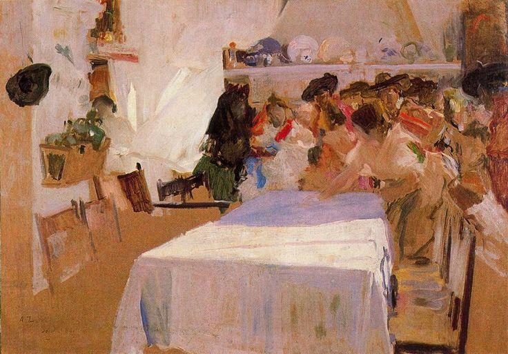 El bautizo. 1899. 80 x 114 cm. Museo de Orsay. París. Francia. Obra de Joaquín Sorolla