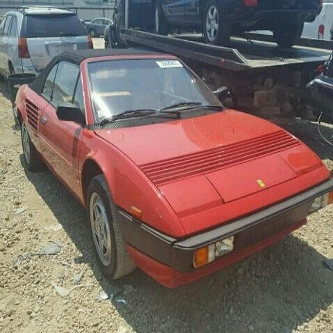 #salvage #forsale 1985 #ferrari #mondial #california #cali  www.bidgodrive.com #exotic #luxury #italia #italiancar #uae #dubai #fast #speed #classic #collectors #lit #hot #nasty #fly #miami #nyc #vegas