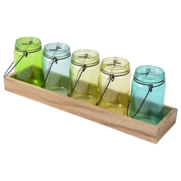 95 best wedding decor for hire images on pinterest wedding decor mason set of 5 jars on tray green wedding decorations for hire australia wide www junglespirit Images