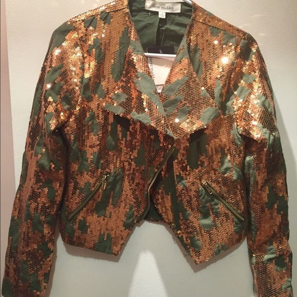 Steve Madden sequin blazer Steve Madden olive green and copper colored sequined blazer. NWT Steve Madden Jackets & Coats Blazers