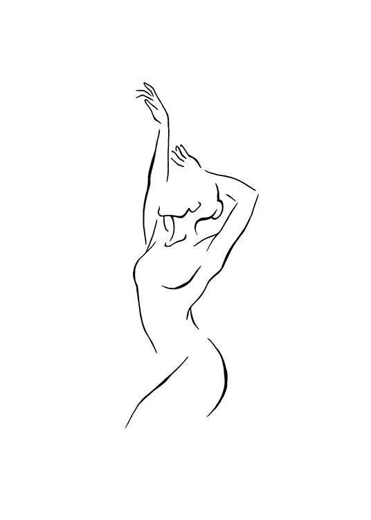 Affiche d'art de ligne de danseur dans le groupe / Reproductions d'art de Desenio AB (11010