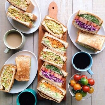 Pretty wrapped sandwiches