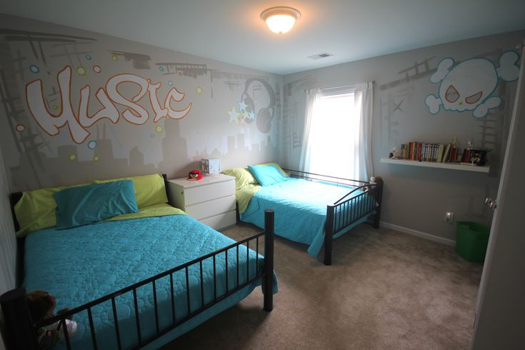 Kids music themed room bedroom ideas for kids fun gray bedroom done by green apple painting - Grey themed rooms ...