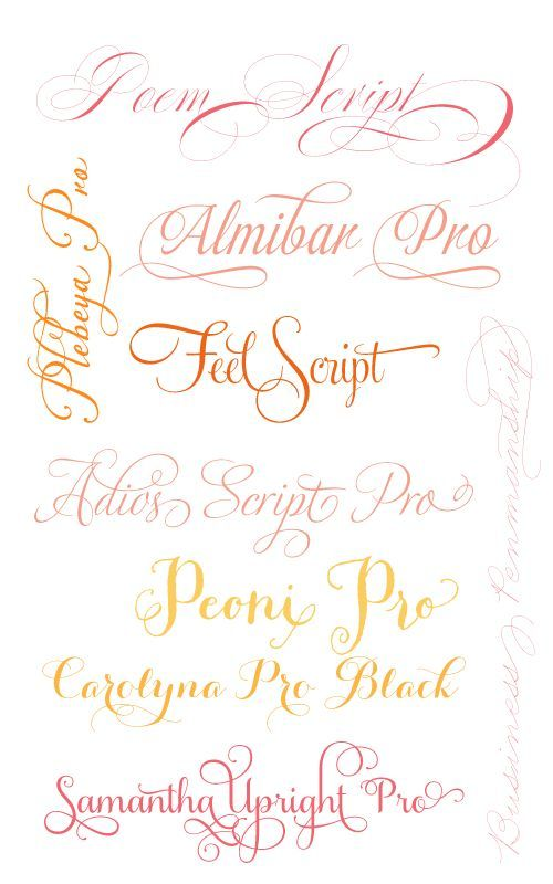 My Favourite Fancy Fonts