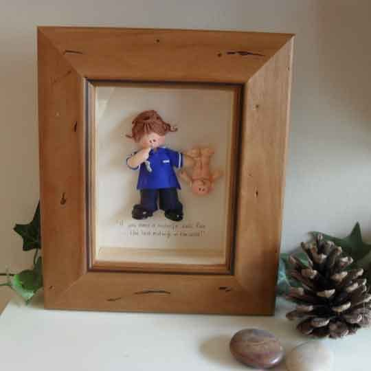 PERSONALISED MIDWIFE GIFT Framed Polymer Clay by ItsybitzysStore