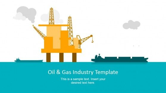 oil & gas industry powerpoint template | template, oil and, Presentation templates