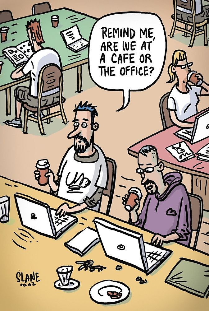Hipster Office by slanecartoons