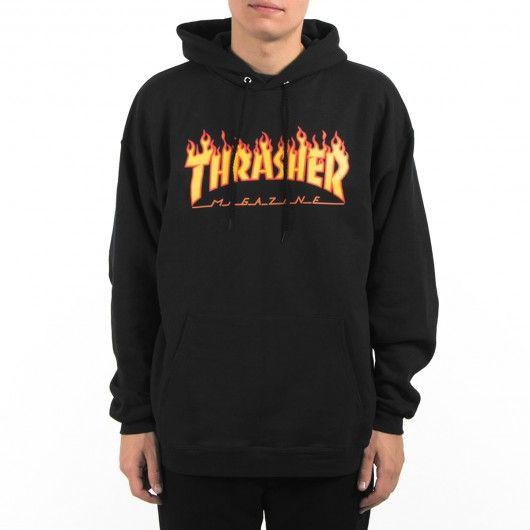 THRASHER Magazine Flame sweat à capuche noir flamme 79,00 € #skate #skateboard…
