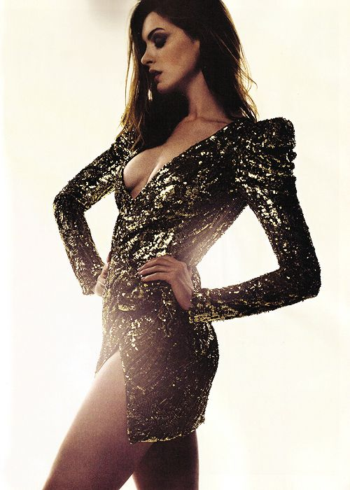 Anne Hathaway - Balmain.  I can't decide if I want to emulate her or maybe just switch teams.