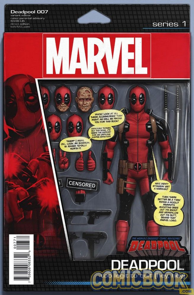 Deadpool #7 Action Figure Variant