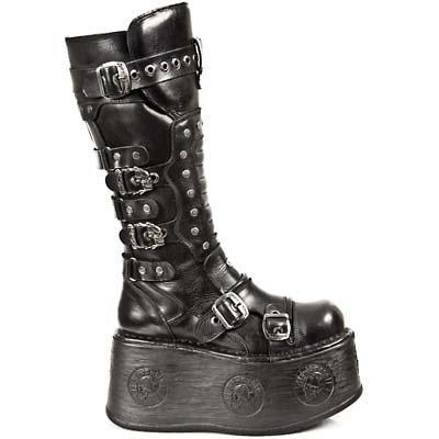 New Rock Damen Boots Stiefel gothic schwarz M.1018-C2 30 tage