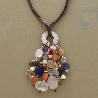 Tassel necklace...wow.
